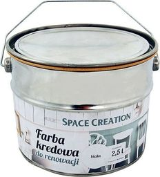 Space Creation Farba kredowa do renowacji mebli - biała 2,5l