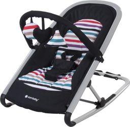 Sun Baby Leżaczek Komfi Onyx Stripes (czarny)