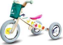 Sun Baby Rowerek biegowy drewniany 2w1 Twist Safari by Mamala.leo White