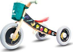 Sun Baby Rowerek biegowy drewniany 2w1 Twist Safari by Mamala.leo Black