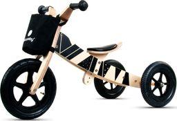 Sun Baby Rowerek biegowy drewniany 2w1 Twist Samoa black on Black