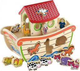 Viga Viga Drewniana Arka Noego z Figurkami zwierząt 17 elementów