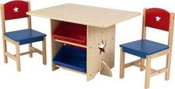 Kidkraft KidKraft Drewniany Stolik z pojemnikami i krzesełkami w gwiazdki