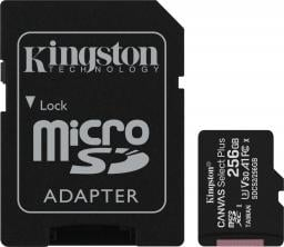 Karta Kingston Canvas Select Plus MicroSDXC 256 GB Class 10 UHS-I/U1 A1 V10 (SDCS2/256GB)