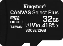 Karta Kingston MicroSDHC Canvas Select Plus + adapter 32GB (SDCS2/32GB)