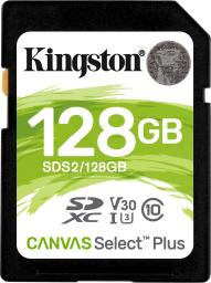 Karta Kingston SDXC Canvas Select Plus 128GB   (SDS2/128GB)