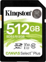 Karta Kingston SDXC Canvas Select Plus 512GB  (SDS2/512GB)