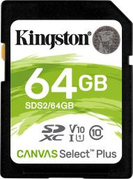 Karta pamięci Kingston Canvas Select Plus 64GB (SDS2/64GB)
