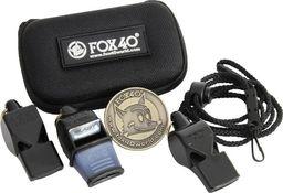 Fox40 Zestaw sędziowski 3 gwizdki+etui czarny 110
