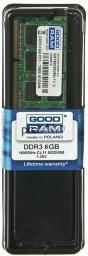 Pamięć do laptopa GoodRam DDR3 SODIMM 8GB 1600MHz CL11 (GR1600S3V64L11/8G)