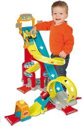 Smoby Vroom Planet Garaż Megajump dla dzieci tor zjazdowy 2 autka