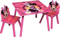 Global Global Drewniany stolik i dwa krzesełka Myszka Minnie Disney uniwersalny