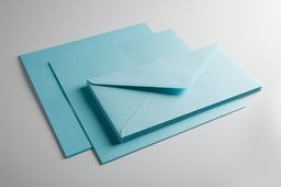 IQ Color Sety zaproszeniowe DL jasny niebieski pastelowy