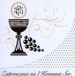 POLMAK Zaproszenia kwadrat Komunia Sw. MIX OP-10 SZT