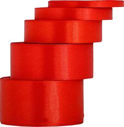 Pogotowie Florystyczno Ślubne Wstążka satynowa 6mm/32mb jasnoczerwona