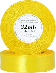 Pogotowie Florystyczno Ślubne Wstążka satynowa 6mm/32mb żółta