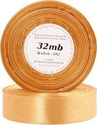 Pogotowie Florystyczno Ślubne Wstążka satynowa 6mm/32mb stare złoto