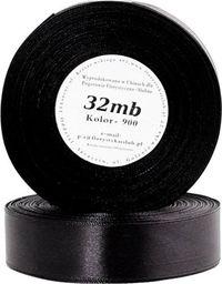 Pogotowie Florystyczno Ślubne Wstążka satynowa 6mm/32mb czarna