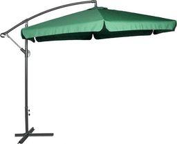 Sanko Parasol ogrodowy na wysięgniku bocznym, składany, zielony universal