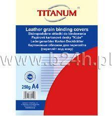 Titanium Karton do bindowania Titanum skóropodobny A4 czerwony 250g