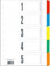 Tres Przekładki laminowane indeksowane A4 5 kolorów