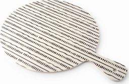 Deska do krojenia Mondex DESKA DO KROJENIA BAMBUSOWA OKRĄGŁA 24x32x0,5cm PASKI MONDEX