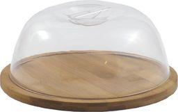 Deska do krojenia Tadar z kloszem bambusowa 18.8x18.8cm