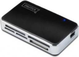 Czytnik Digitus USB 2.0, Uniwersalny, Czarno - Srebrny (DA-70322-1)