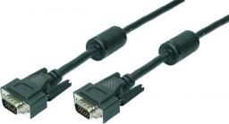 Kabel LogiLink D-Sub (VGA) - D-Sub (VGA) 1.8m czarny (CV0001)