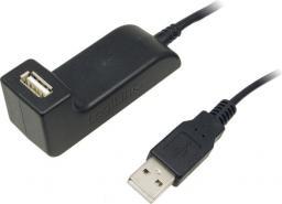 Kabel USB LogiLink przedłużacz ze stacją dokującą 1,5m (CU0036)