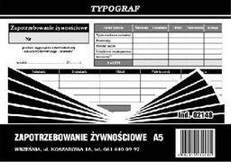 Typograf Zaopatrzenie żywnościowe A5 02148