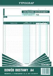 Typograf Dowód dostawy A4 01120