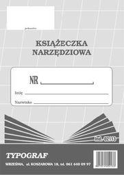 Typograf Druki offsetowe Typograf książeczka narzędziowa A6 02113