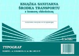 Typograf Książka sanitarna środka transportu z komorą chłodniczą 02170