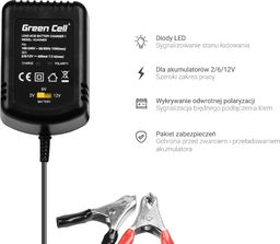 Green Cell Ładowarka, Prostownik Green Cell do akumulatorów 2V / 6V / 12V (0.6A)