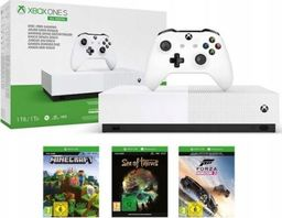 Microsoft Xbox One S 1TB All Digital z grami Sea of Thieves, Forza Horizon 3, Minecraft