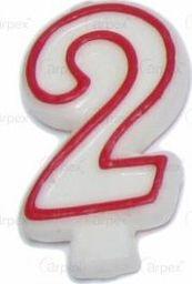 Arpex Swieczka cyferka nr 2 czerwona