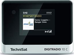 Radio Technisat TechniSat DIGIT RADIO 10 C, adapter (black / silver, FM, DAB +)