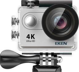 Kamera EKEN Kamera sportowa EKEN H9R Srebrna - 3 baterie + monopod standard
