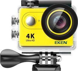 Kamera EKEN Kamera sportowa EKEN H9R Żółta - 2 baterie + monopod pro