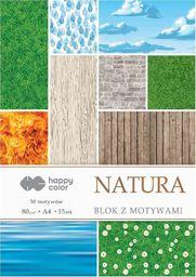 Blok biurowy GDD Blok z motywami Natura A4/15ark HAPPY COLOR