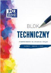 Blok biurowy Oxford Blok techniczny A3/10K 250G biały (10szt) OXFORD