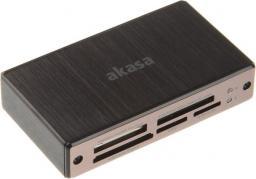 Czytnik Akasa zewn, kart pamięci - USB 3.0 (AK-CR-06BK)