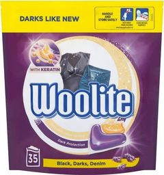 Woolite Black Darks Denim kapsułki do prania do tkanin ciemnych z keratyną 35szt