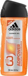 Adidas Żel pod prysznic AdiPower Men Shower Gel 250ml