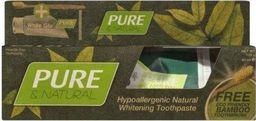 White Glo Zestaw Pure&Natural pasta do zębów 85ml + bambusowa szczoteczka