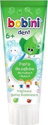 Bobini BOBINI_Dent pasta do zębów dla małych i dużych powyżej 6-go roku życia Miętowa guma balonowa 75ml