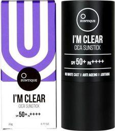 Suntique SUNTIQUE_I'm Clear Cica Sun Stick SPF50+/PA++++ krem przeciwsłoneczny w sztyfcie 22g