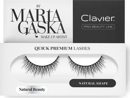 Clavier CLAVIER_Quick Premium Lashes rzęsy na pasku Natural Beauty 827