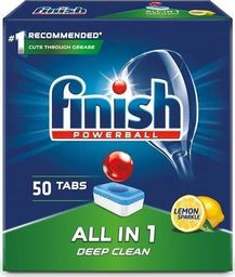 Finish Powerball All In 1 Max tabletki do mycia naczyń w zmywarkach Lemon 50szt
